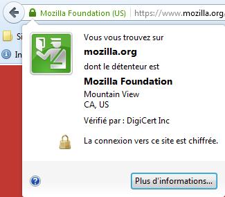 barre verte du certificat SSL : ExtendedSSL